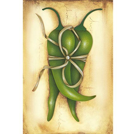 Papel Decoupage Arte Francesa Litoarte AF-302 31,1x21,1cm Pimentas Verdes