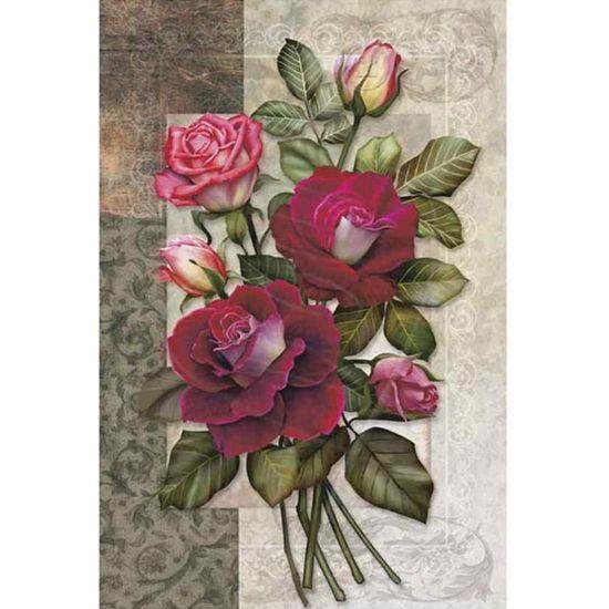 Papel Decoupage Arte Francesa Litoarte AF-165 31,1x21,1cm Rosas I
