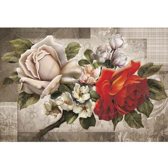 Papel Decoupage Arte Francesa Litoarte AF-168 31,1x21,1cm Rosas