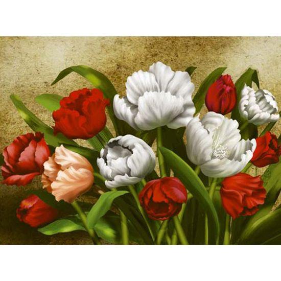 Papel Decoupage Arte Francesa Litoarte AFGG-005 45x62,5cm Tulipas