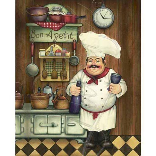 Papel Decoupage Arte Francesa Litoarte AFM-036 28x35cm Cozinheiro I