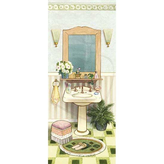 Papel Decoupage Arte Francesa Litoarte AFP-012 25x10cm Banheiro I