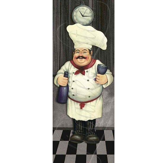 Papel Decoupage Arte Francesa Litoarte AFP-055 25x10cm Cozinheiro com Champagne