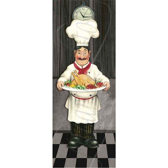 Papel Decoupage Arte Francesa Litoarte AFP-056 25x10cm Cozinheiro com Assado