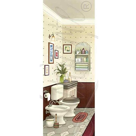 Papel Decoupage Arte Francesa Litoarte AFP-057 25x10cm Banheiro IV