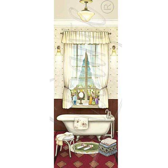 Papel Decoupage Arte Francesa Litoarte AFP-058 25x10cm Banheiro V