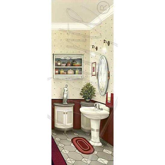 Papel Decoupage Arte Francesa Litoarte AFP-059 25x10cm Banheiro VII