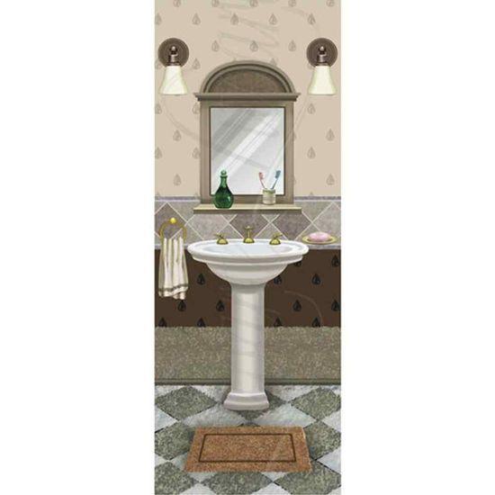 Papel Decoupage Arte Francesa Litoarte AFP-081 25x10cm Banheiro Pia e Espelho
