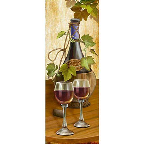 Papel Decoupage Arte Francesa Litoarte AFP-116 25x10cm Garrafa de Vinho e Taças