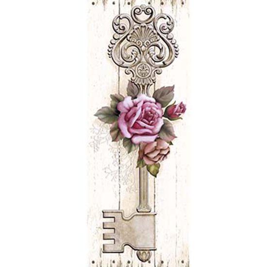 Papel Decoupage Arte Francesa Litoarte AFP-151 25x10cm Chave