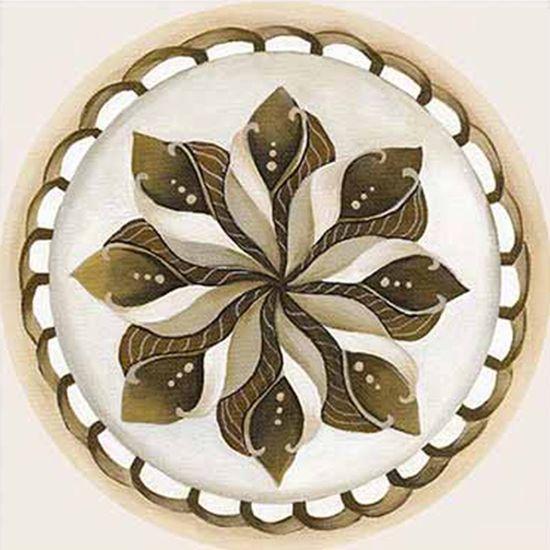 Papel Decoupage Arte Francesa Litoarte AFQ-390 21x21cm Mandala Flor Bege