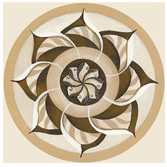 Papel Decoupage Arte Francesa Litoarte AFQ-391 21x21cm Mandala Bege