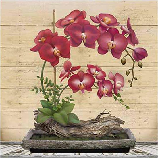 Papel Decoupage Arte Francesa Litoarte AFQ-399 21x21cm Orquídea Vermelha