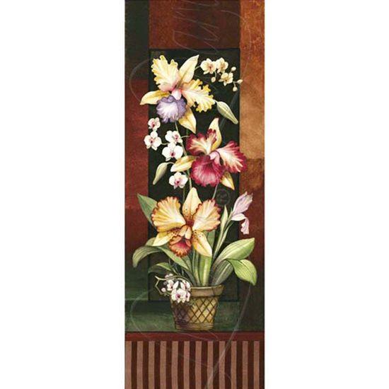 Papel Decoupage Arte Francesa Litoarte AFVE-022 22,8x62cm Orquídeas