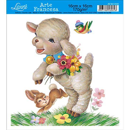 Papel Decoupage Arte Francesa Ovelha AFXV-059 - Litoarte