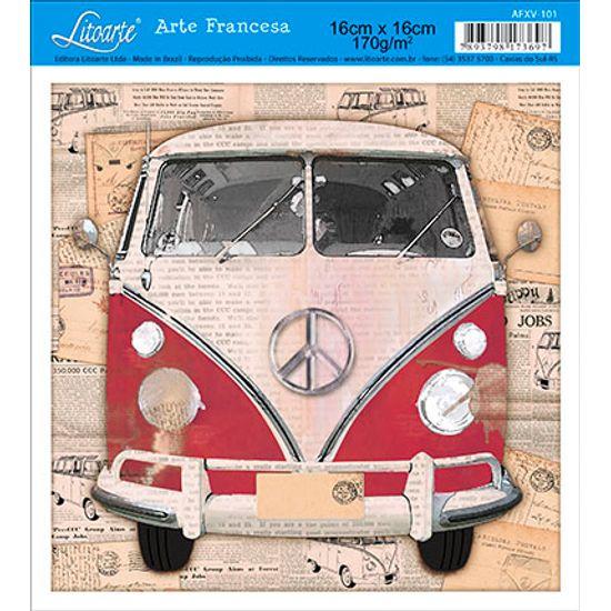 Papel Decoupage Arte Francesa Perua AFXV-101 - Litoarte