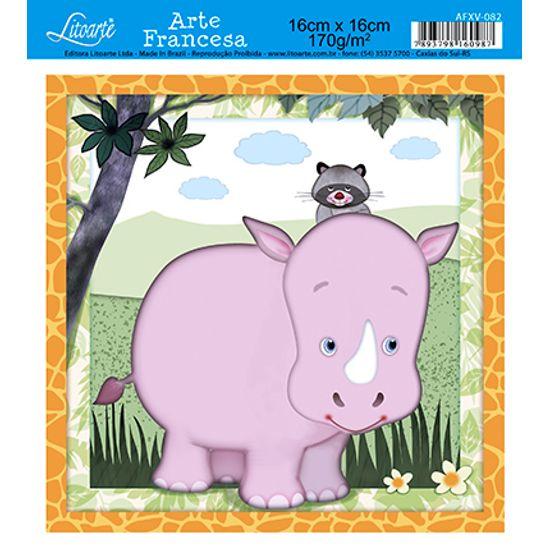Papel Decoupage Arte Francesa Rinoceronte AFXV-082 - Litoarte