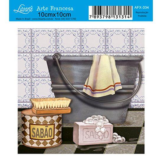 Papel Decoupage Arte Francesa Sabão AFX-334 - Litoarte