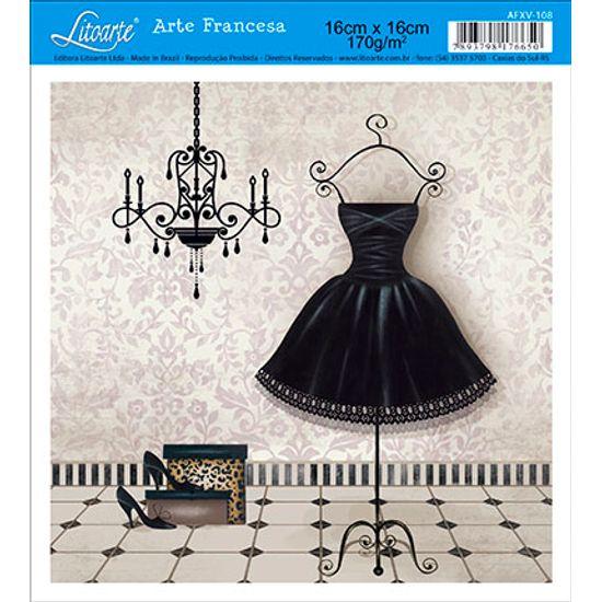 Papel Decoupage Arte Francesa Vestido AFXV-108 - Litoarte
