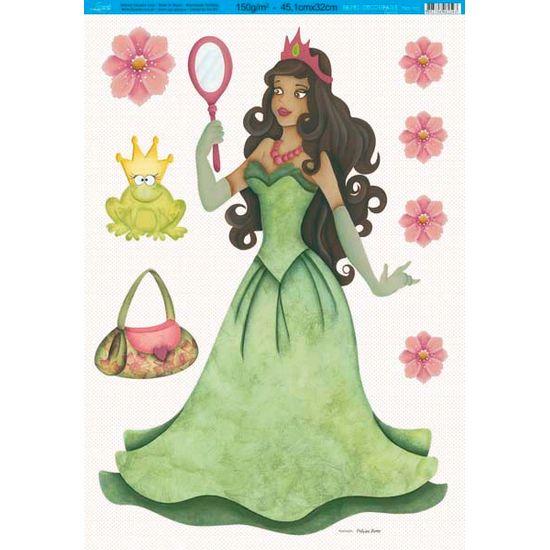 Papel Decoupage Especial Princesa PDE-002 Litoarte