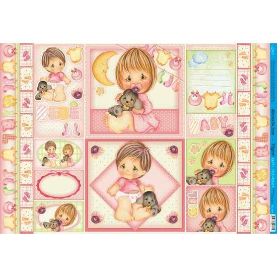 Papel Decoupage Grande Baby Girl PD-684 Litoarte