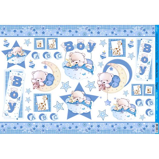 Papel Decoupage Grande Boy PD-183 Litoarte