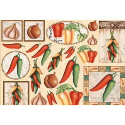 Papel Decoupage Grande Legumes - LD-791 - Litocart