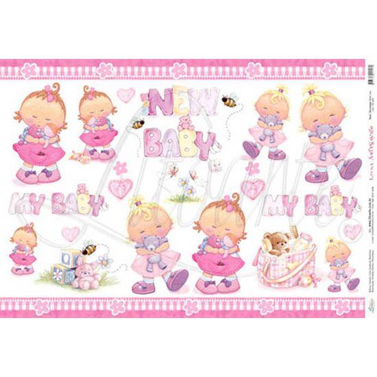 Papel Decoupage Grande New Baby PD-029 Litoarte