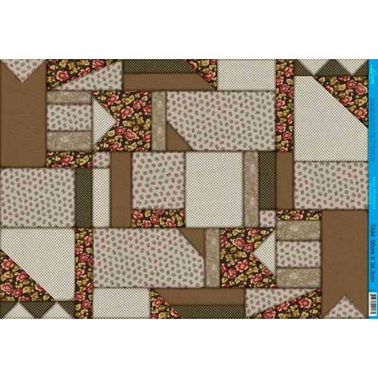 Papel Decoupage Grande Patch Marrom PD-394 Litoarte