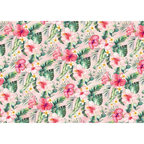 Papel Decoupage Litoarte 34,3x49 PD-1027 Floral Tropical