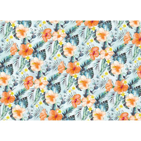 Papel Decoupage Litoarte 34,3x49 PD-1028 Floral Tropical
