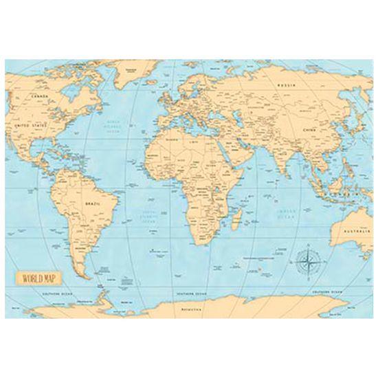 Papel Decoupage Litoarte 34,3x49 PD-990 Mapa Mundi