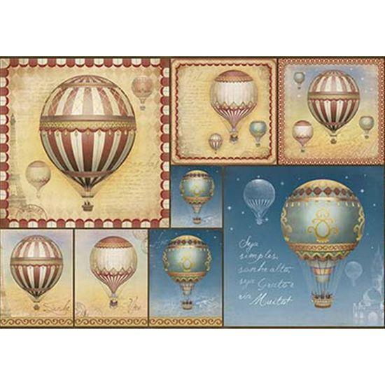 Papel Decoupage Litoarte PD-943 34,3x49cm Balões