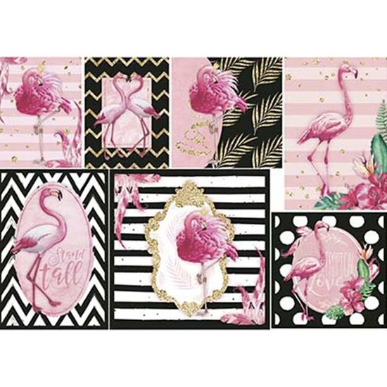 Papel Decoupage Litoarte PD-945 34,3x49cm Flamingo