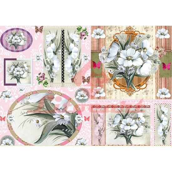Papel Decoupage Litocart LD-840 34x48cm Flores