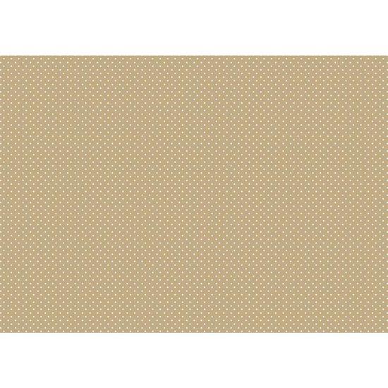 Papel Decoupage Litocart LD-878 34x48cm Poá Branco Fundo Marrom