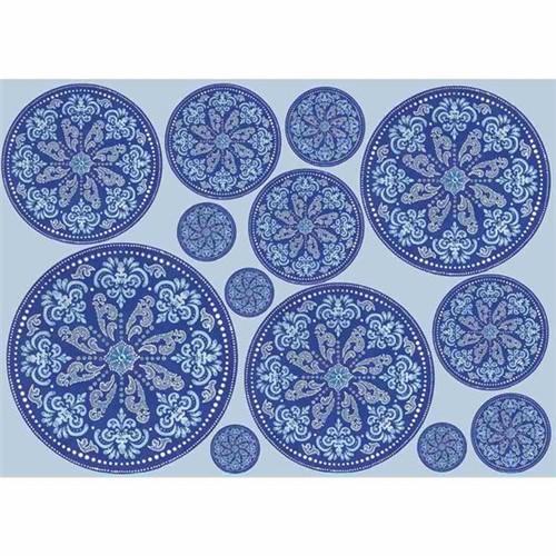 Papel Decoupage Litocart LD-893 34x48cm Mandala Azul