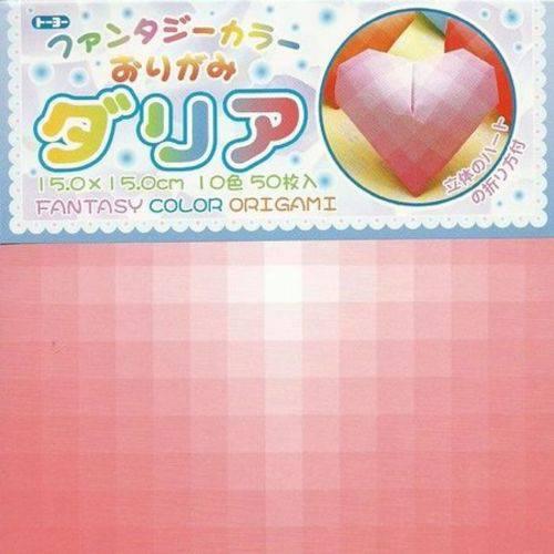 Papel Dobradura Origami Toyo Fantasy Dahlia 015 X 015 Cm 006062