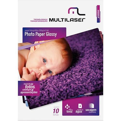 Papel Fotográfico A4 C/200 G/M² (10 Folhas) - Multilaser