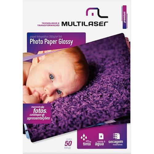 Papel Fotográfico Multilaser A4 C/200 G/M² (50 Folhas)