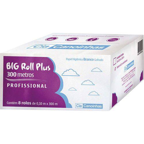 Papel Higienico Big Roll Folha Simples 300m Cia Canoinhas Cx.c/08