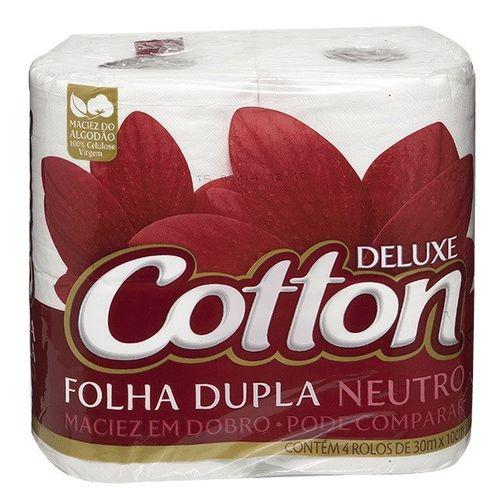 Papel Higiênico Cotton Folha Dupla Neutro 4 Unidades