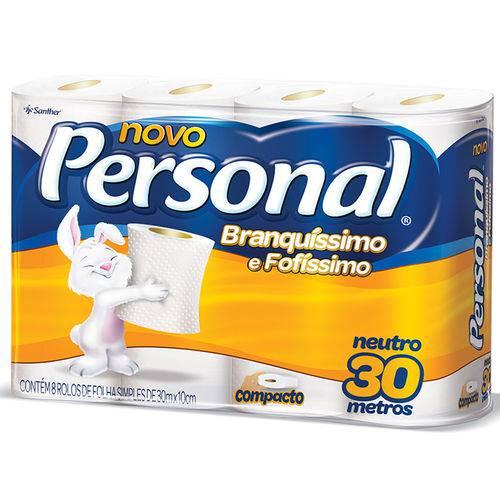 Papel Higienico Fl/sp Personal 8un-pc Neutro