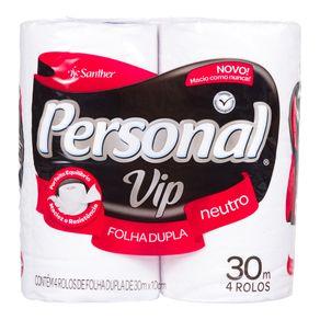 Papel Higiênico Personal VIP com 4 Unidades