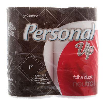 Papel Higiênico Personal Vip Folha Dupla Pacote com 4 Rolos