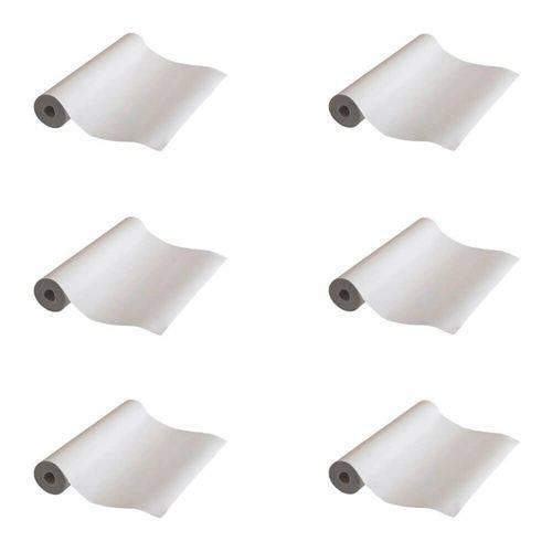 Papel Lençol Branco 50cmx50m (kit C/06)