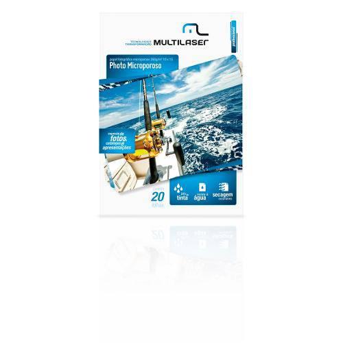 Papel Multilaser Especial Fotografico Paper Microporos A6 10x15 com 20fls 260g/m2 Papel Multilaser Especial Fotografico Paper Microporos A6 10x15 com 20fls 260g/m2