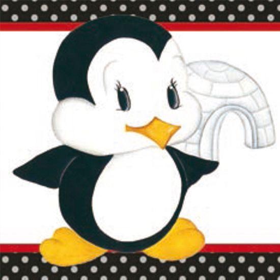 Papel Papel Adesivo Decoupage Pinguim com Iglu LAX-184 - Litocart