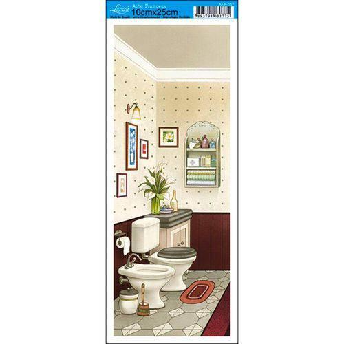 Papel para Arte Francesa Litoarte 10 X 25 Cm - Modelo Afp-057 Banheiro Iv