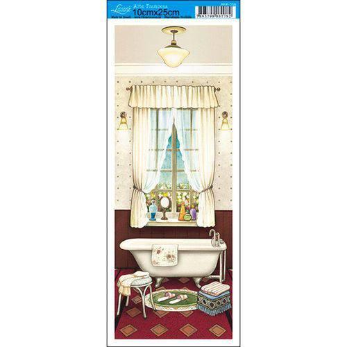 Papel para Arte Francesa Litoarte 10 X 25 Cm - Modelo Afp-058 Banheiro V